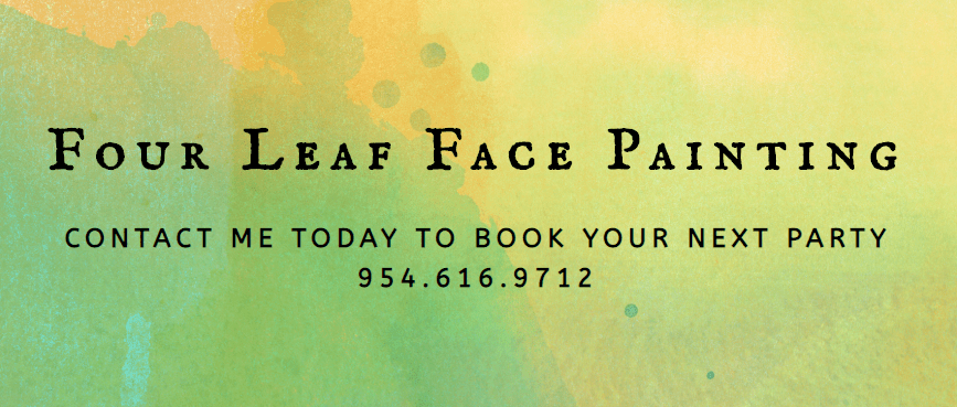 Four Leaf Face Painting